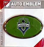 Seattle Sounders FC Raised Metal Domed Oval Color Chrome Auto Emblem Decal MLS Soccer Football Club