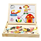 Wooden Multifunction Writing Drawing Toys Board for Kids Jigsaw Puzzle Games by Zhisheng You