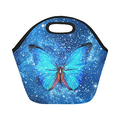 0c3b4d670f12 on sale InterestPrint Insulated Lunch Tote Bag Stars Butterfly ...