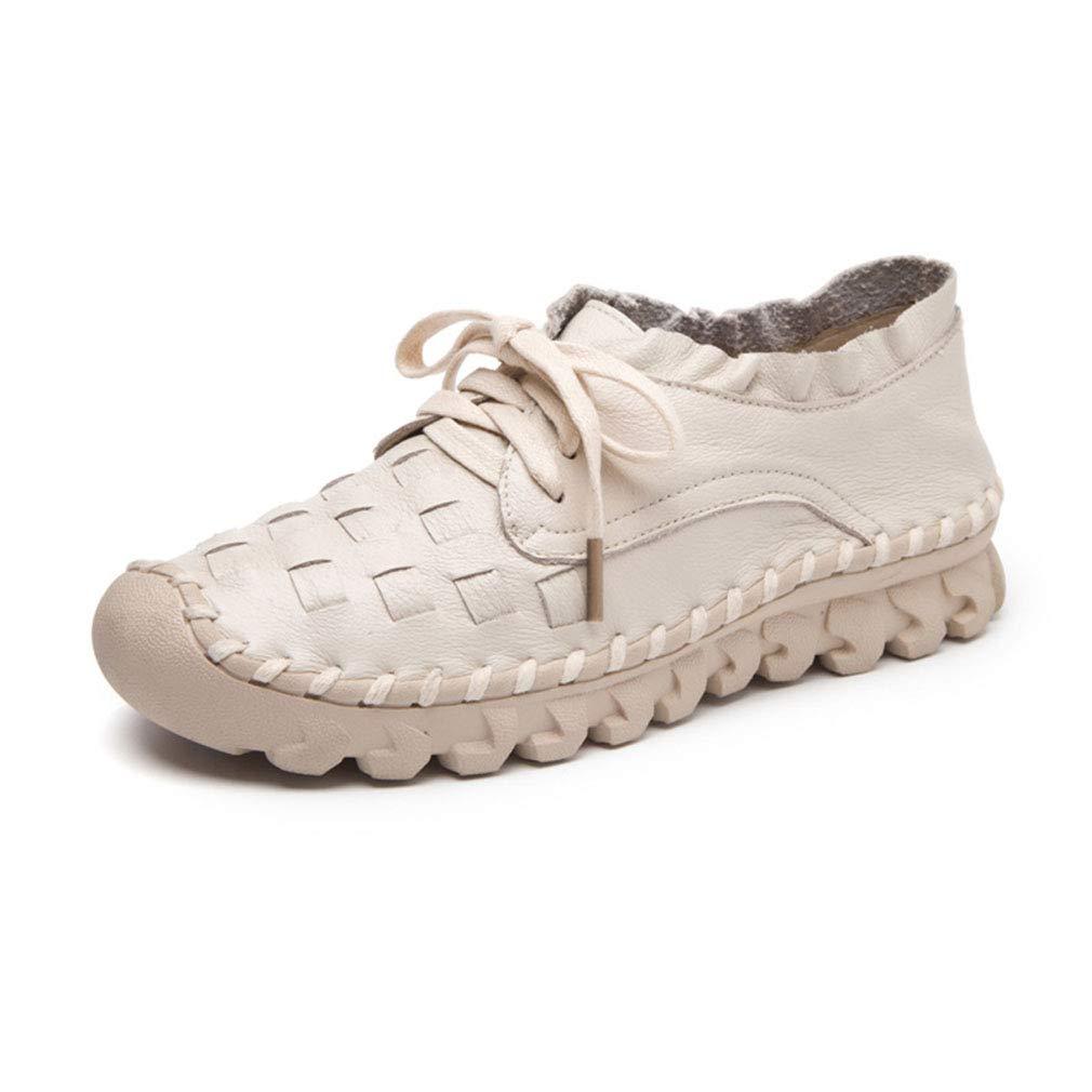 YAN Damenschuhe Neue Frühlingsleeder-Loafers & Slip-Ons Low Heel Casual Flats Breathable Ladies ' Casual Heel schuhe Round Head Walking schuhe Weiß 36 ed5d50