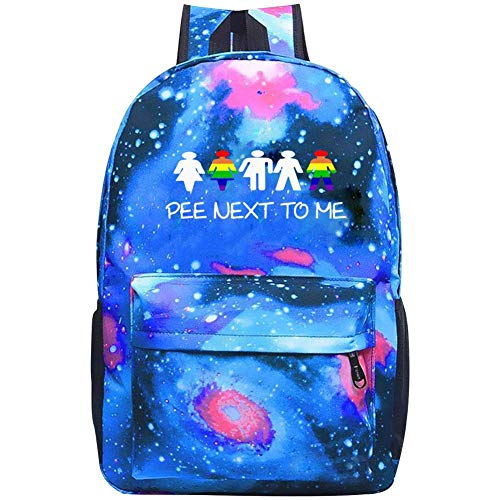Galaxy Fashion Daypacks Pee Next To Me - LGBT Ally Transgender Backpacks For School College Student Travel Busines