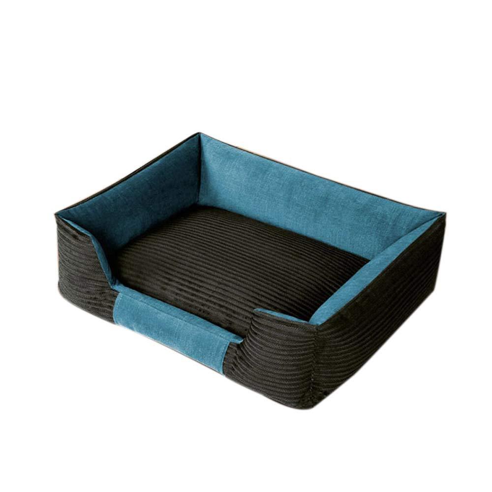 四季の犬小屋、取り外し可能および洗える、暖かい中型、小型犬、犬用品、45kgまでのペットに適して (色 : ダークブラウン) B07NYK2P8R ライトブルー  ライトブルー