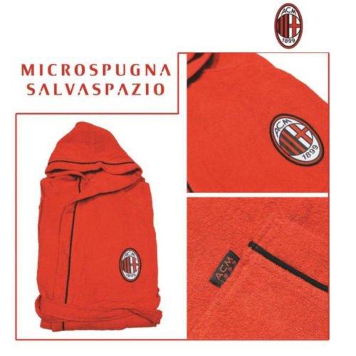 Milan Accappatoio in Micro Spugna Salva Spazio Varie Taglie Prodotto Ufficiale