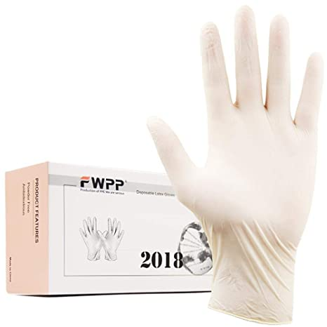 FWPP Disposable Latex Surgical Gloves,Powder Free Dental