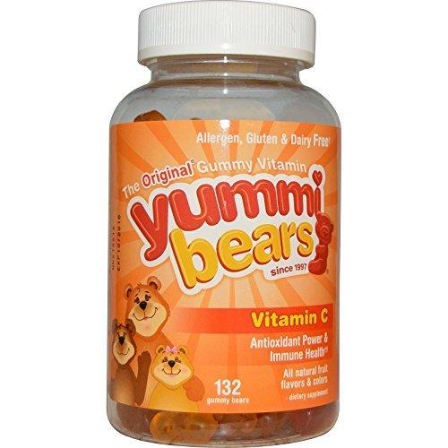 (Hero Nutritional Products, Yummi Bears, Vitamin C, 132 Gummy Bears - 2pc )