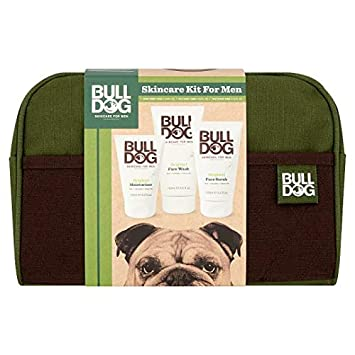 c61201edc3a Bulldog Skincare Kit For Men ~ Wash Bag ~ Original Moisturiser ~ Scrub ~  Wash  Amazon.co.uk  Beauty