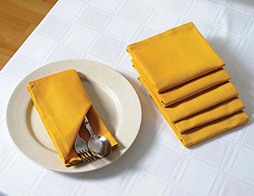ShalinIndia Solid Color Cotton Napkins Set For Horde Ouveres - 13'' x 13'' - Set of 100 Premium Table Linens - Yellow by ShalinIndia