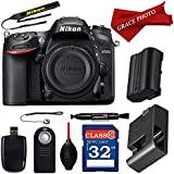 Nikon D7200 24.2 MP DX-format Digital SLR Body with Wi-Fi and NFC + Accessory Bundle (10 items)