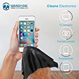 "Wanshine Microfiber Cleaning Cloths - for All LCD Screens, Tablets, Lenses, and Other Delicate Surfaces (4 Black and 2 Grey 6x7"")"