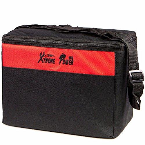 XtremepowerUS Premium 4CFM Air Vacuum Pump HVAC A/C Refrigeration Kit AC Manifold Gauge Case Set w/Leak Detector and Carrying Tote Bag by XtremepowerUS (Image #4)
