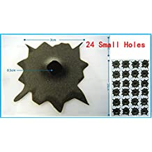 3D Auto Fake Bullet Hole Gun Shots Stickers as Gag Toys & Practical Jokes for Hallowmas,Christmas,Thanksgiving (24 Small Holes)