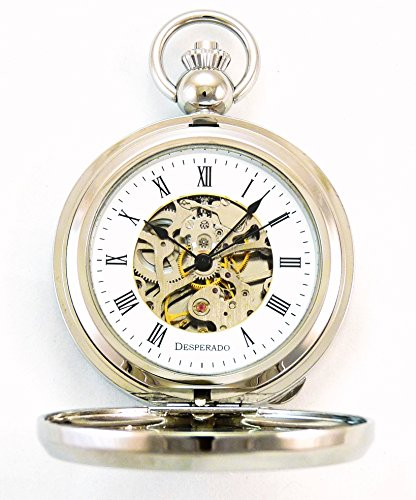 Desperado-Riverside-Chrome-Photo-Insert-Picture-Frame-Pocket-Watch-Built-in-Stand