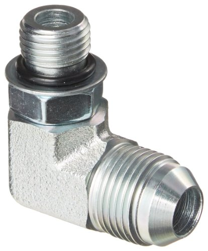 - Eaton Weatherhead C5515X8X6 Carbon Steel SAE 37 Degree (JIC) Flare-Twin Fitting, 90 Degree Elbow, 3/8