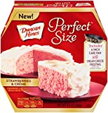 Duncan Hines Perfect Size Cake Mix, Strawberries & Crème, 9.4 Ounce