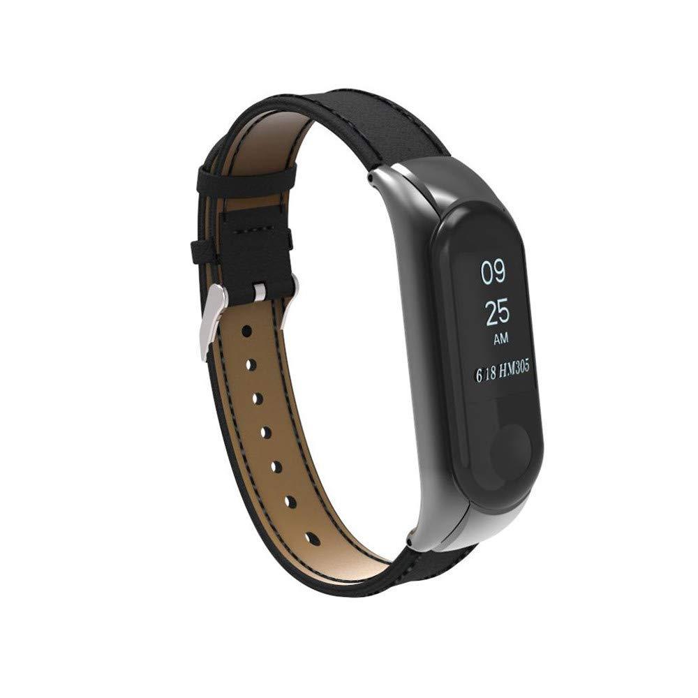 LANSKIRT_Correas de Banda de Pulsera de Repuesto Reloj de Pulsera Correa Reloj Banda + Funda de Metal para Xiaomi Mi Band 3 Bracelet: Amazon.es: Juguetes y ...