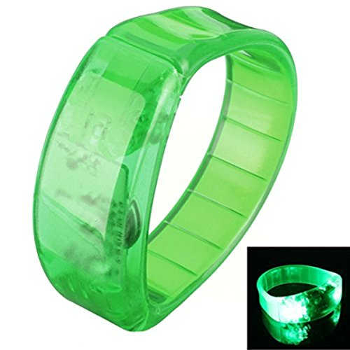 Sound Activated LED Glowing Bracelet Wristband for Party /Disco /Bar (White) - 3