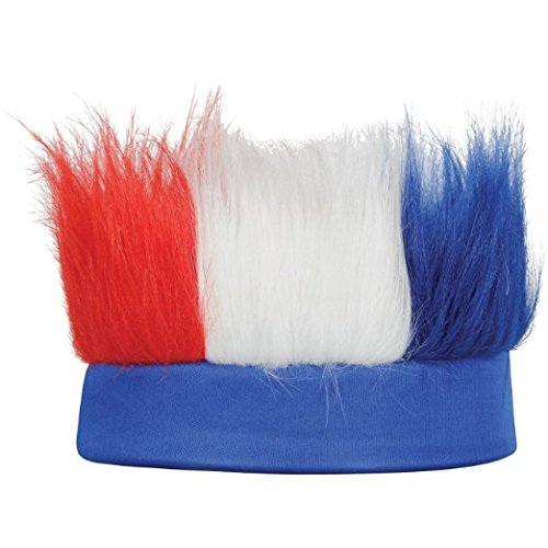 Patriotic Hairy Headband (Red, White, Blue) Party Accessory (1/Pkg) Pkg/12