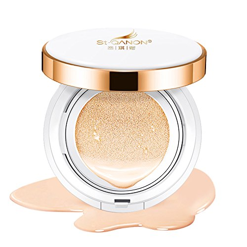 STQANON BB Cream Cushion Foundation Brand New V3.0 Formula + Compact Cover Moist Makeup SPF50 Medium Shade 15g (0.5 Oz) RESULTS GUARANTEED OR YOUR ()