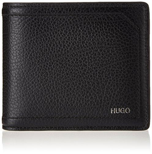 HUGO Herren Twin_4 Cc Coin 10202016 01 Geldbörse, Schwarz (Black), 2x9.5x11 cm