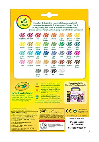 Crayola Colored Pencils, 36 Premium Quality, Long-Lasting, Pre-Sharpened Pencils Non-Toxic Colored Pencil Set for Adult Coloring Books or Kids 4 & Up, Great for Shading, Gradation, Line Art & More by Crayola (Image #4)