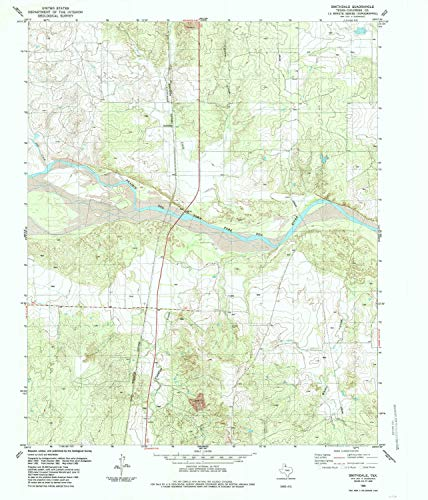 Abington One Light - YellowMaps Smithdale TX topo map, 1:24000 Scale, 7.5 X 7.5 Minute, Historical, 1985, Updated 1985, 26.8 x 23 in - Tyvek