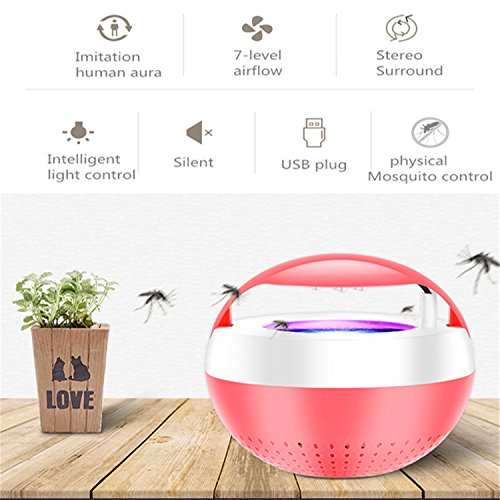 Jingjing1 Led Photocatalyst Mosquito Inhaler Silencer Indoor Home New USB Insect Killer (Red) by Jingjing1 (Image #2)