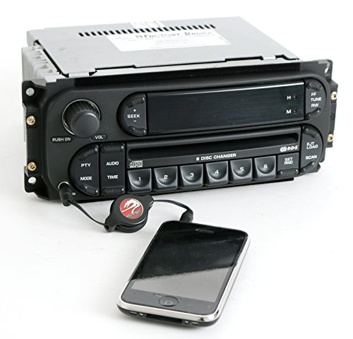 Jeep Ipod - 1 Factory Radio AM FM 6 Disc CD iPod Aux Compatible With 2002-2007 Chrysler Jeep Dodge RBQ Digital P05091507AG