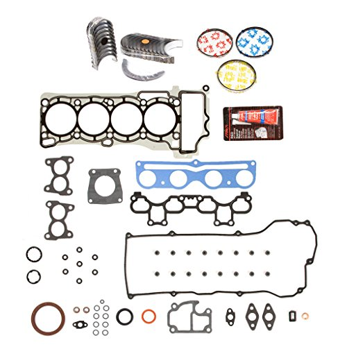 Evergreen Engine Rering Kit FSBRR3038EVE\0\0\0 00-06 Nissan Sentra QG18DE Full Gasket Set, Standard Size Main Rod Bearings, Standard Size Piston (060 Piston Kit)