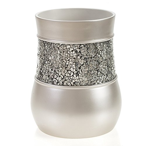 Nickel Trash Can (Creative Scents Brushed Nickel Bathroom Trash Can (7.75