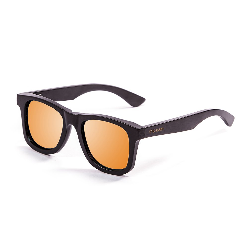 OCEAN SUNGLASSES wood Victoria - lunettes de soleil polarisÃBlackrolles en Bambou - Monture : Noir - Verres : Revo Orange (53001.2) HOqAWFO