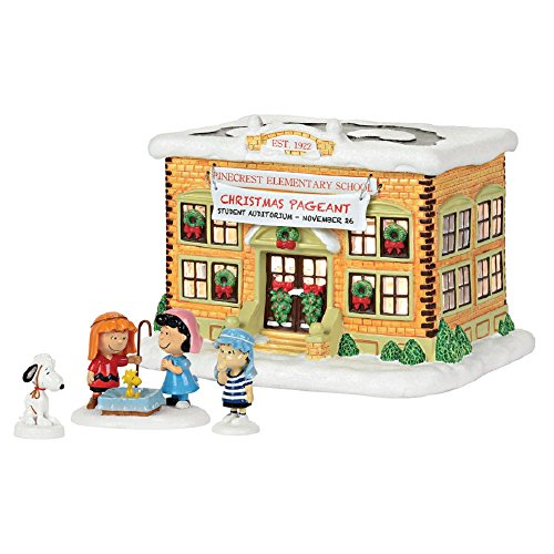 Peanuts Pre-Lit Musical Peanuts House with Constant White Incandescent Lights by Peanuts
