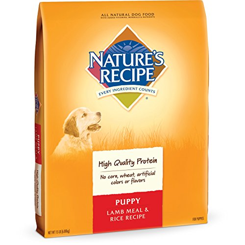 Nature's Recipe Puppy Dry Dog Food, Lamb Meal & Rice Recipe, 15-Pound