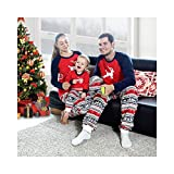 Baywell 2018 Christmas Family Pajamas Set, Elk Pattern Mom Dad Kid Outfits Set for Xmas