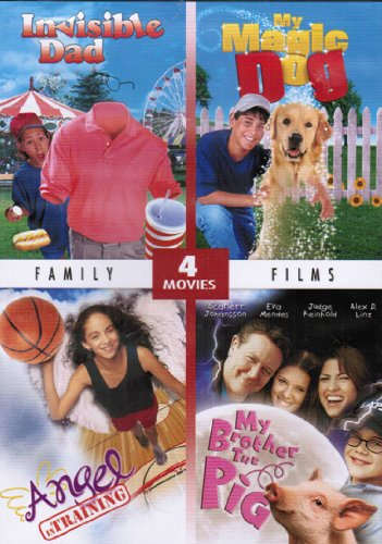 Family Comedy Films Collection (4 Movies) - Invisible Dad, My Magic Dog, Angel in Training, & My Brother the Pig