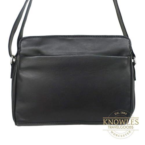 f069de6d8dea Nova Leathers Small Shoulder Bag with Adjustable Shoulder Strap (Navy)