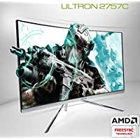 Hansung ULTRON 2757C CURVED 144 27 Inch FHD Curved Gaming Monitor (1920 x 1080) PVA, 144Hz, 1ms, Flicker Free, Low Blue Light, AMD FreeSync, CrossHair, HDMIx2, DP