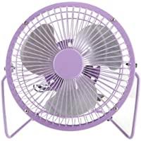 Mini High Velocity Personal Fan USB Powered Desktop Desk Fans Aluminum Leafage Portable Ultra-Quiet Cooling Fans for PC Laptop Notebook Power Bank Home/Office,Traveling,Camping (18﹡20cm, Purple)