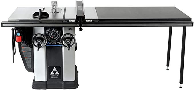 Delta 3 HP Motor 10 in. UNISAW with 52 in. BIESEMEYER Fence System (best table saw)