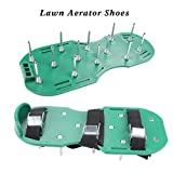ewinever Lawn Aerator Shoes with 3 Adjustable Straps & Metal Buckles & Secure Steel Spikes Universal Size Lawn Spiked Shoes For Effectively Aerating Lawn Soil For a Greener and Healthier Garden