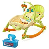 fisher price grill food - Fisher-Price Newborn to Toddler Portable Rocker Plus BONUS Hypoallergenic, Unscented Baby Wipes, 128 Count