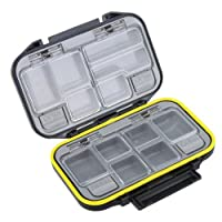 Dcolor 12 Compartments Storage Case Fly Fishing Lure Spoon Hook Bait Tackle Box Waterproof Black