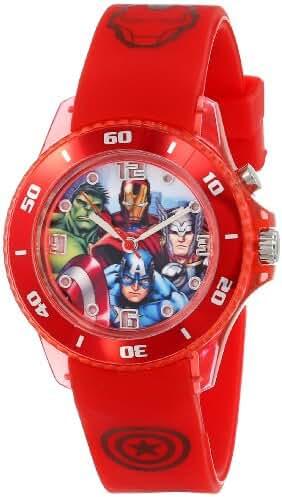 Marvel The Avengers Kids' AVG3507 Analog Display Analog Quartz Red Watch