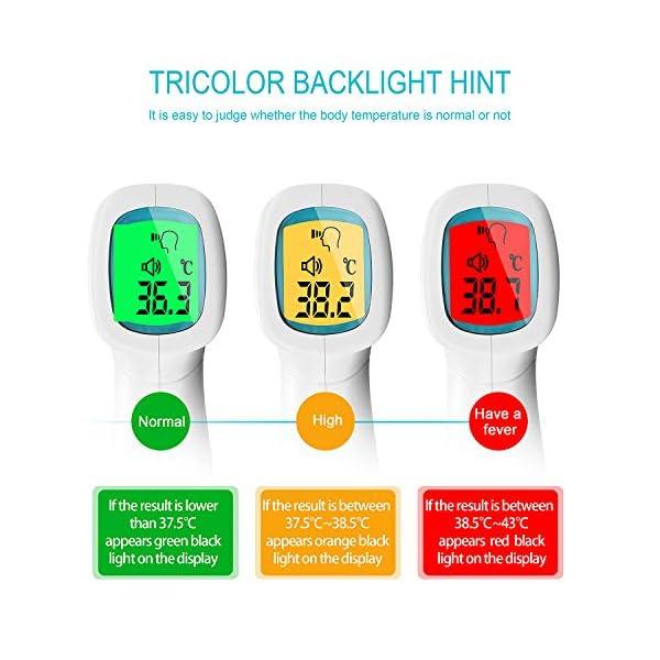 Byakov Termómetro de Frente, Termómetro Infrarrojo, Sin Contacto Termómetro Digital Infrarrojos con Pantalla LED… 10
