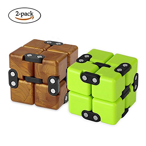 AngelarSea Mini Infinity Cube , Decompression ToyCool Mini Light Gadget Best for Reduce Anxiety Puzzle and Kill Time for Kids Teens Adults2 Pack.