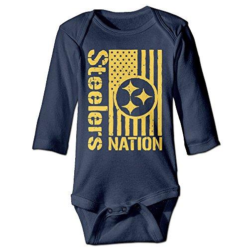 Steelers Nation Girl Long Sleeve Baby Onesie Romper