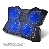 SeSDY Cooling Pad USB Powered Ultra-Thin Flat-Panel Laptop Cooler for 15.6-17 Inch Laptop, 120 Mm Fan, 1200 RPM