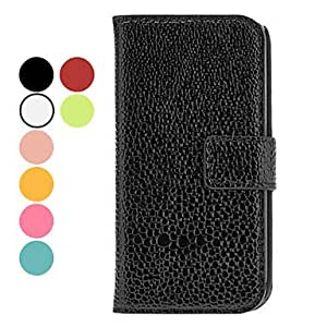 PEACH Exquisite Design PU Leather Case with Stand and Card Slot for Samsung Galaxy S4 Mini I9190 (Assorted Colors) , Green