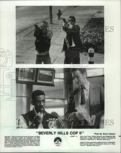 1987 Press Photo Actors Eddie Murphy & Judge Reinhold in Beverly Hills Cop II - Historic Images