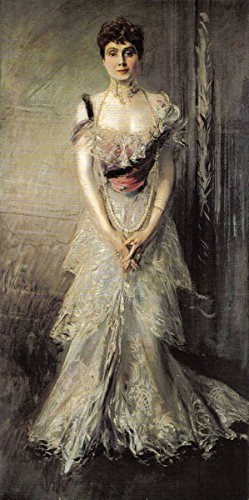 Portrait Of Maria Eulalia Of Spain by Giovanni Boldini 16'' x 32'' Oil on Canvas Reproduction by Cutler Miles