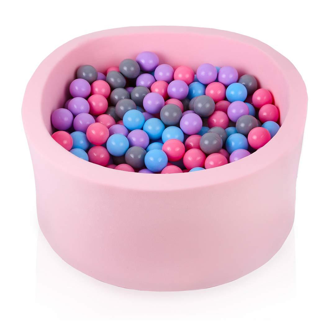 Rose rosepoudré gris Bruyère Bleu 300 Balles FUNGO Piscine A Balle pour Bébé 90x40 Piscine à Balle pour Enfant avec 200 Ou 300 Balles (300 Balles, Noir Vert VertCéladon Turquoise Blanc)